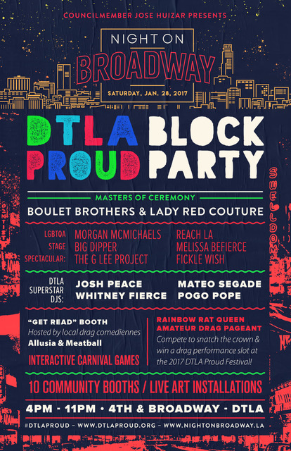DTLA Proud Block Party starts soon