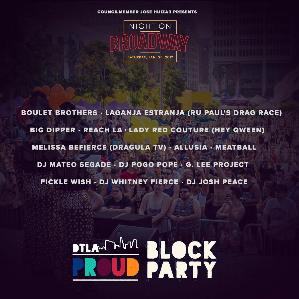 DTLA Proud Block Party Lineup and Volunteer Opportunities